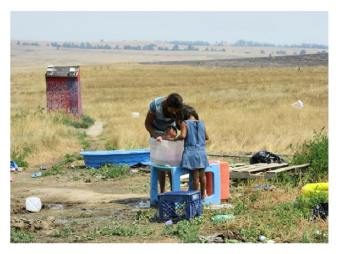 Life on the Pine Ridge Indian Reservation in South Dakota, US. They've lived behind a wall for more than a century.