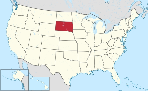 Location Of South Dakota In the United States