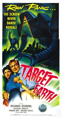 Target Earth lobby poster.